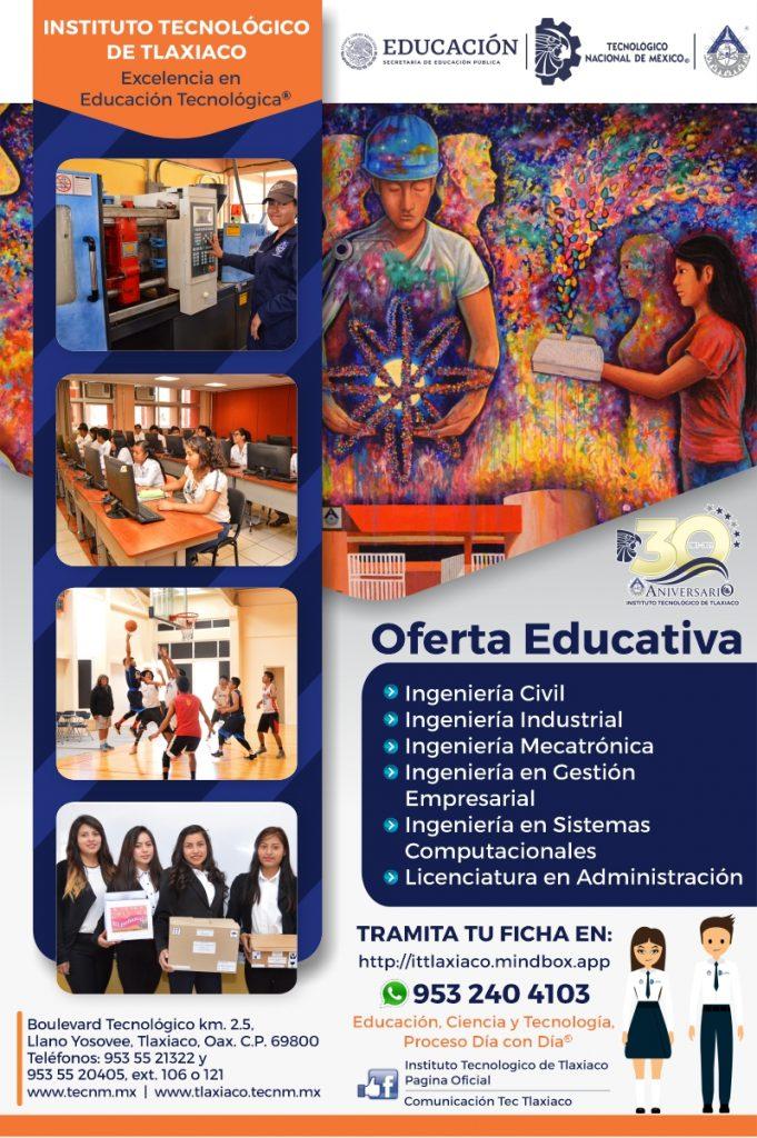 Oferta Educativa del Instituto Tecnológico de Tlaxiaco